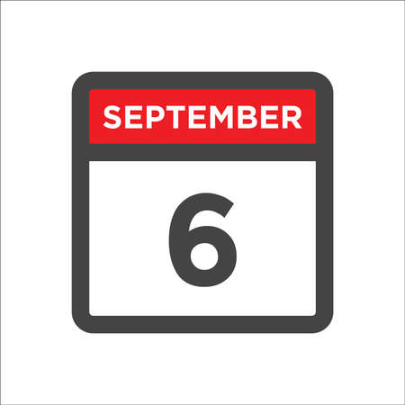 September 6 calendar icon with day & month