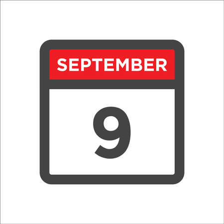September 9 calendar icon with day & month