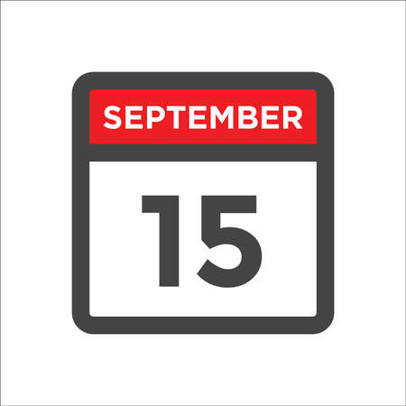 September 15 calendar icon with day & month