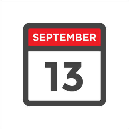 September 13 calendar icon with day & month