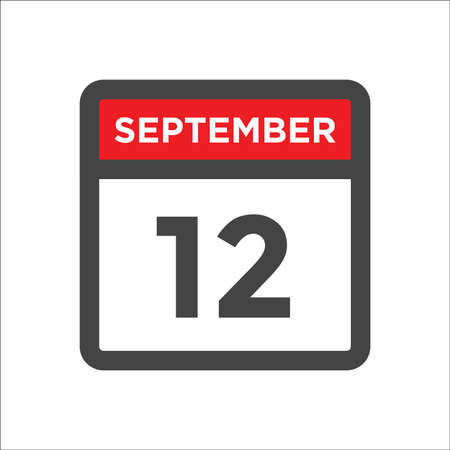 September 12 calendar icon with day & month