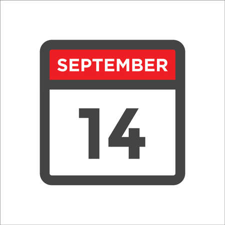 September 14 calendar icon with day & month