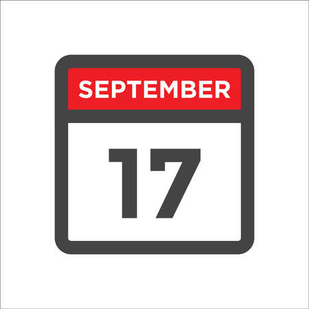 September 17 calendar icon with day & month