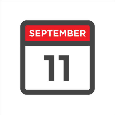 September 11 calendar icon with day & month