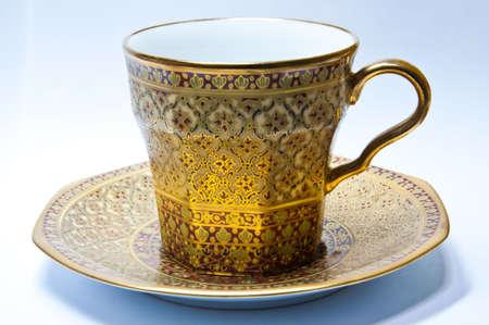 Benjarong, thai style tea cup  photo