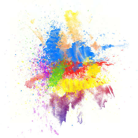 dabs: Abstract watercolor hand painted background