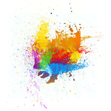 splatter paint: Abstract watercolor hand painted background