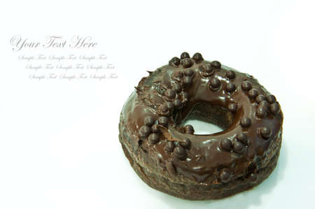 Chocolate donuts isolated on white background photo