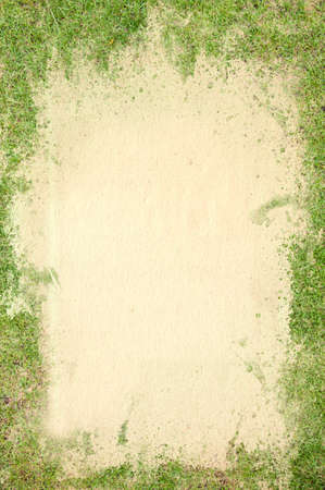 Old paper texture covered green grass photo