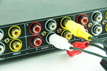 rca: RCA a via cavo di interconnessione v con ingressi audio e video