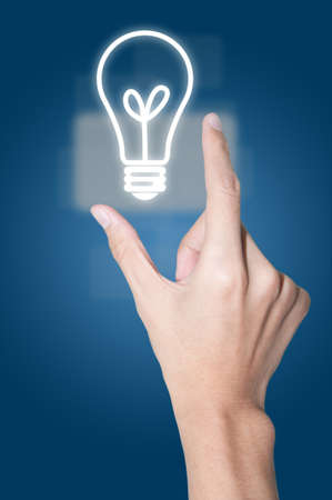 concpet: Hand and lightbulb (Green energy concpet)