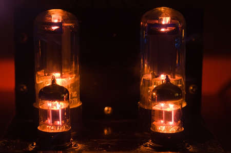 Glowing vacuum tubes Stock Photo - 3789320