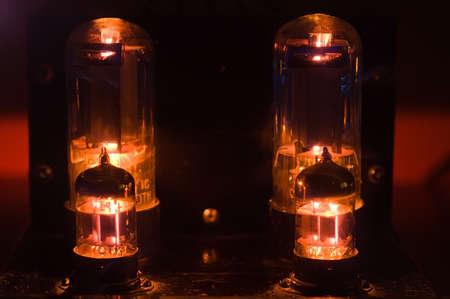 Glowing vacuum tubes Stock Photo - 3789320