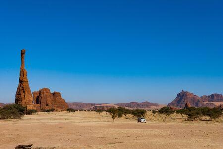 Natural rock formations, sandstone pilar Chad, Africa