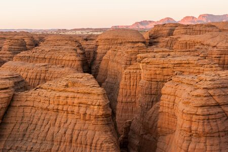 Labyrithe of rock formation called d'Oyo in Ennedi Plateau on Sahara dessert, Chad, Africa.