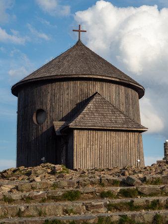 Chapel at the top of Sniezka mountains. Karkonosze National Park, Poland
