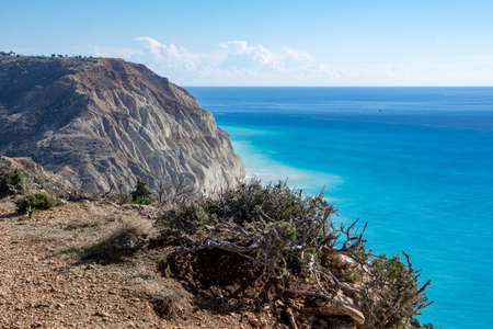 Great view during a hike at Cyprus Stock Photo