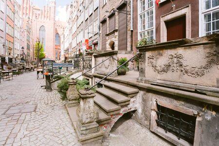 Mariacka street, a famous European street in Gdansk