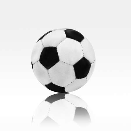 Soccer ball on white background Stock Photo - 8670671