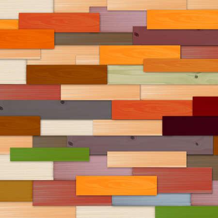 Fondo de pared de madera multicolor