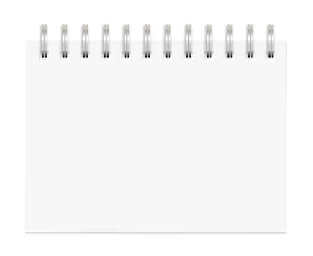 Blank Spiral Notepad isolated on White. Ready for your message. Stock Photo - 8670669