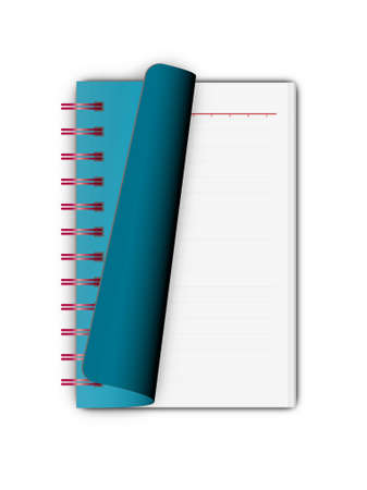 Blue Notebook opening isolated on white background Stock Photo - 8670687