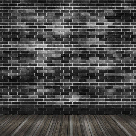 Vintage inter with brick wall and wooden floor Stock Photo - 8670712