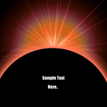 Lunar eclipse with light flare illustration Stock Illustration - 8670689
