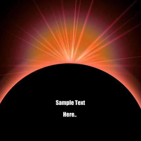 lunar eclipse: Lunar eclipse with light flare illustration Stock Photo