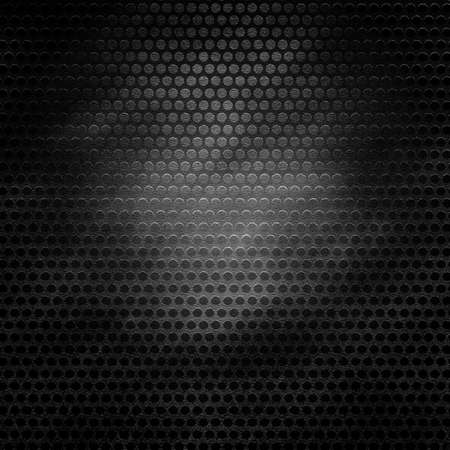 Grill metal hole on grunge canvas texture