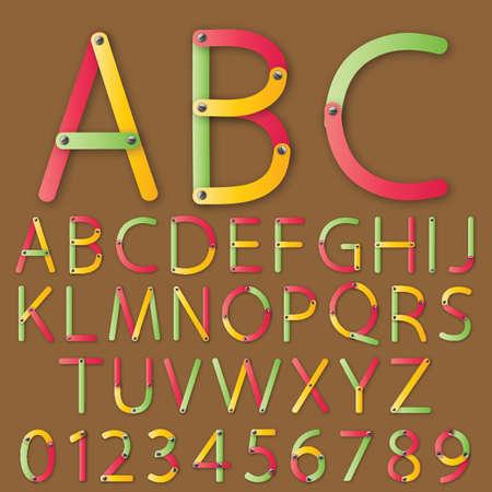 Set of alphabet letter Vector