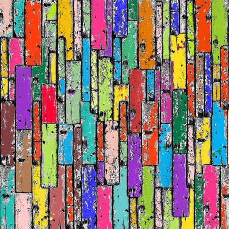 Fondo de madera multicolor Foto de archivo