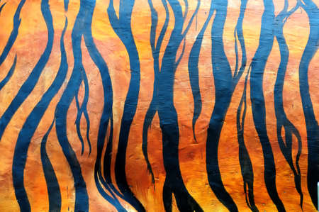 year of the tiger: Seamless tiger skin Stock Photo