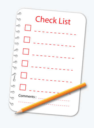lined: Check list note paper