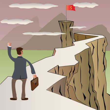 Man finding success concept