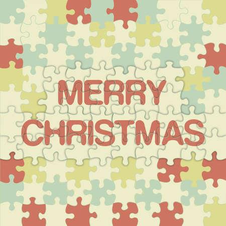 Feliz Navidad puzzle de vectores de fondo