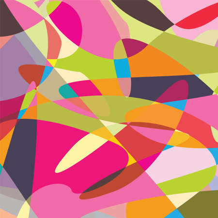 cd label: Abstract Color Line Illustration