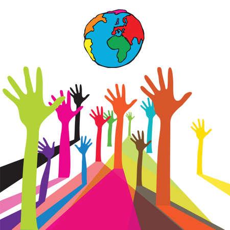 Mano de colores En El Mundo