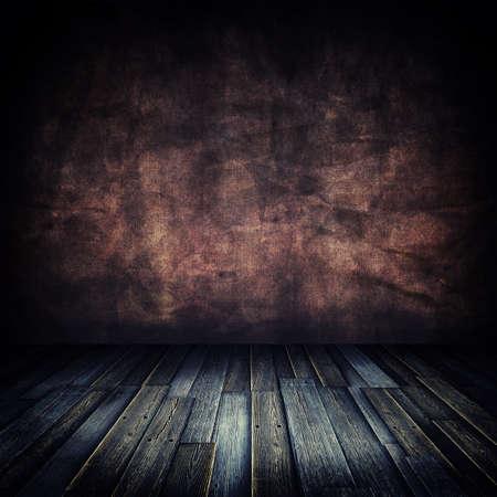 Old Grunge Wooden Floor Room photo