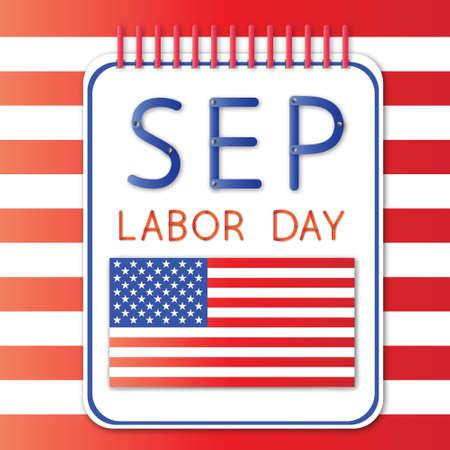 September labor day Vector