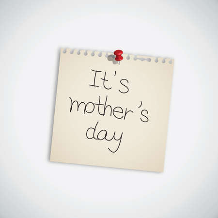 It s Mother s Day Note Paper Illustration