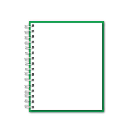 Green Realistic Notebook Vector