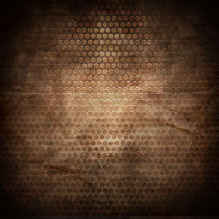 Grill metal hole on grunge wrinkle canvas texture Stock Photo - 13788235
