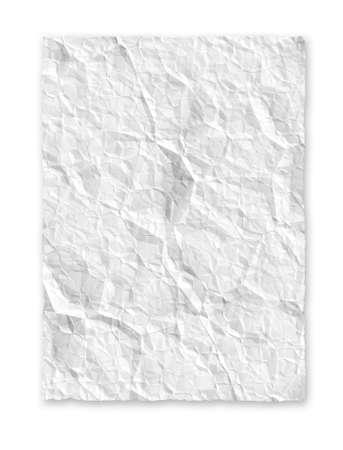 White crumple paper background texture