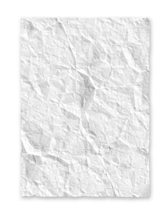 White crumple paper background texture
