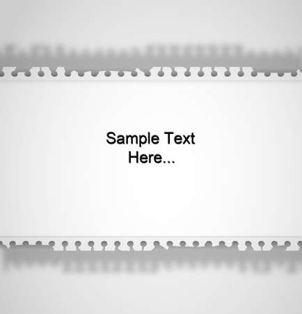 Note Paper Ripped off on isolated white background for sample text and design photo
