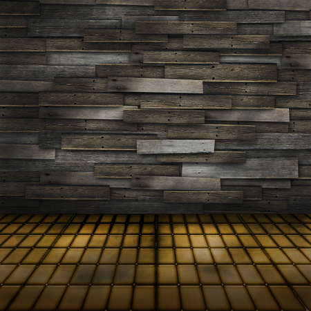 Old grunge wood room with distressed walls and floor Stock Photo - 13788231