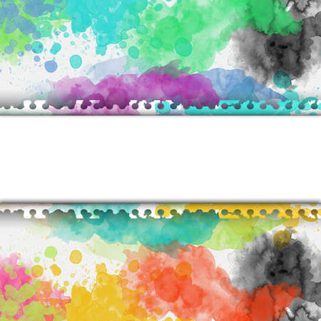 Abstract watercolor on paper frame background Standard-Bild