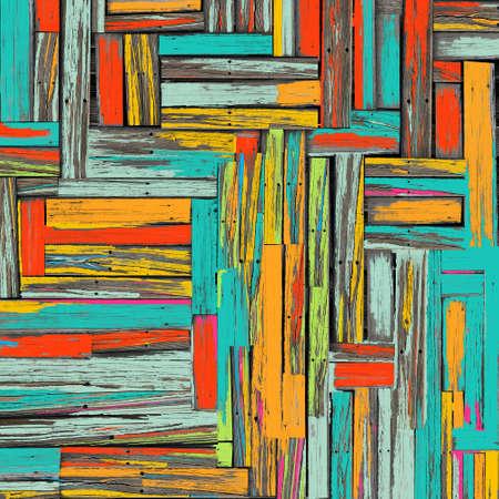 Vintage colorful wooden wall background Standard-Bild