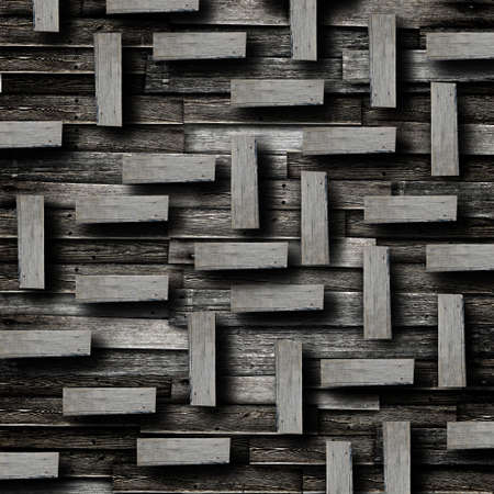 Wood plate attach on vintage wood background Stock Photo - 13788239